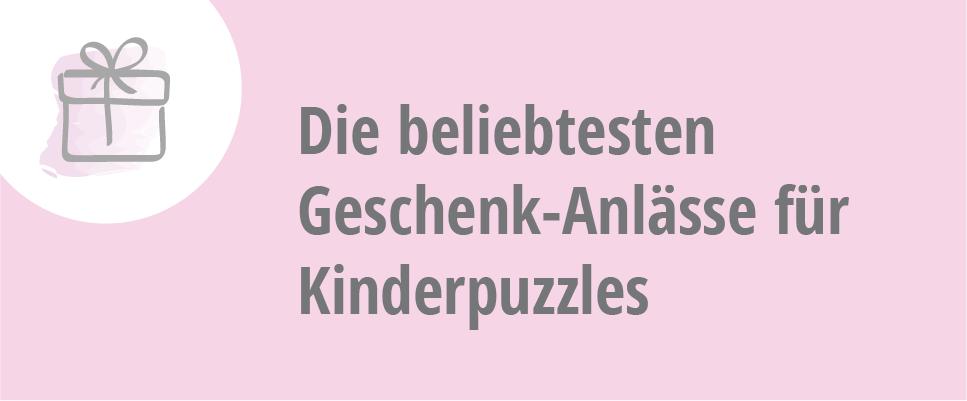 Geschenk-Anlässe Kinderpuzzles