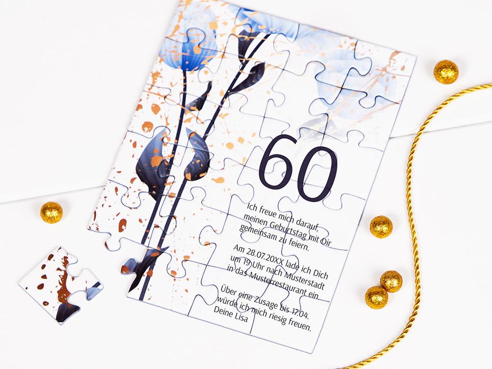 Einladungen zum Geburtstag als Puzzle