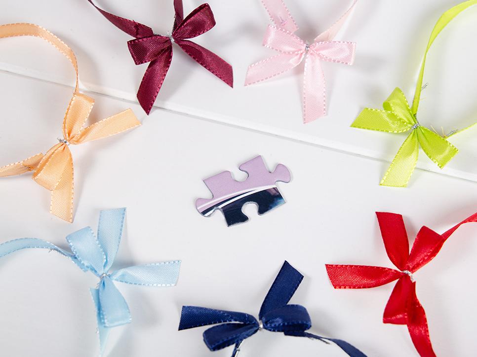 Geschenk-Schleife für Message-Puzzles