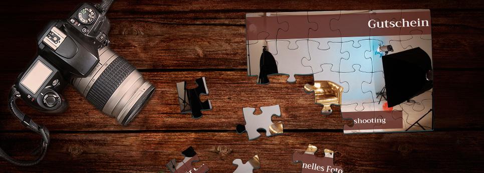 Puzzle als Gutschein für Fotoshooting