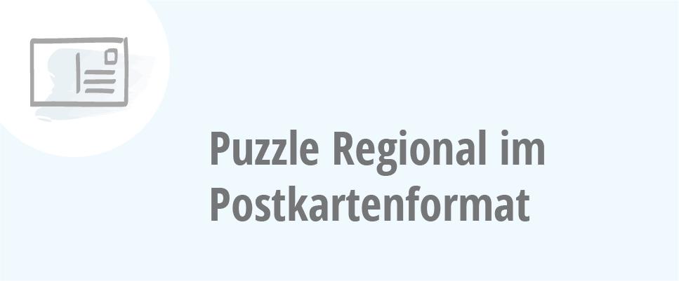 Puzzle Regional im Postkartenformat