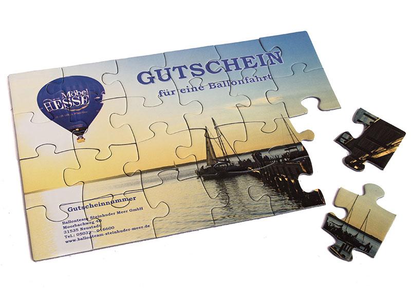 Gutscheinidee: Gutschein-Puzzle für eine Ballonfahrt