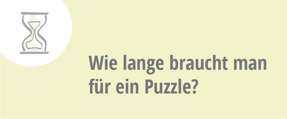 wie lange braucht man für ein Puzzle?