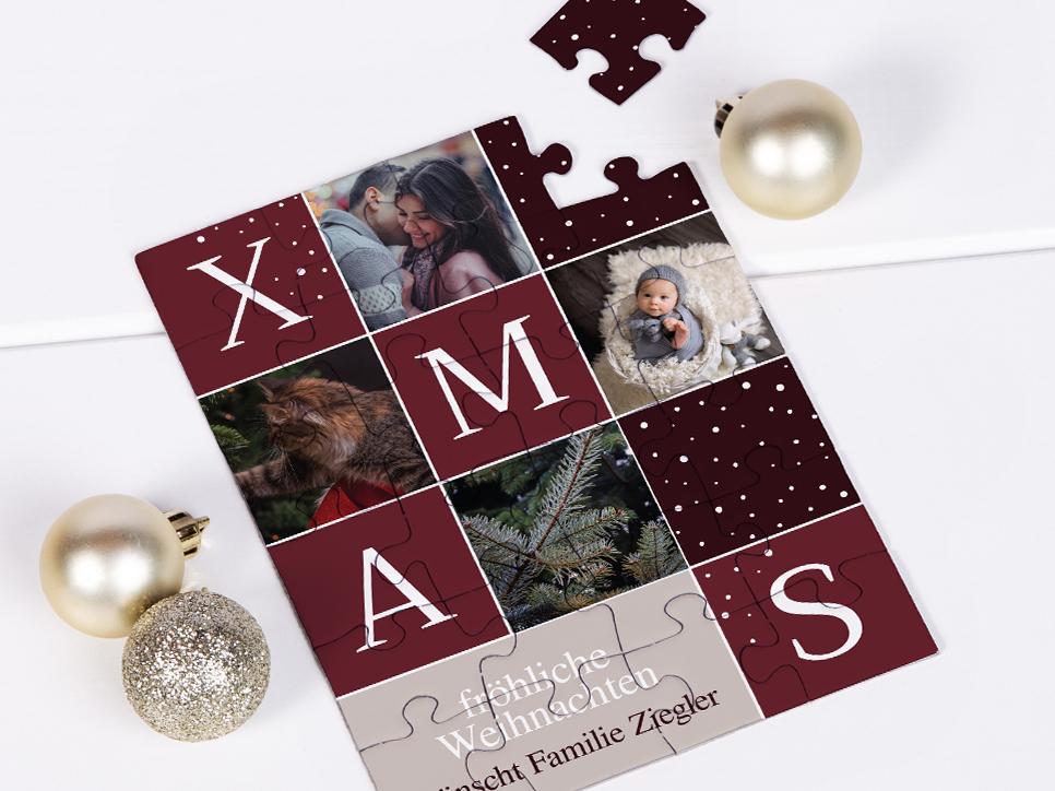 Weihnachtskarten  als Puzzle