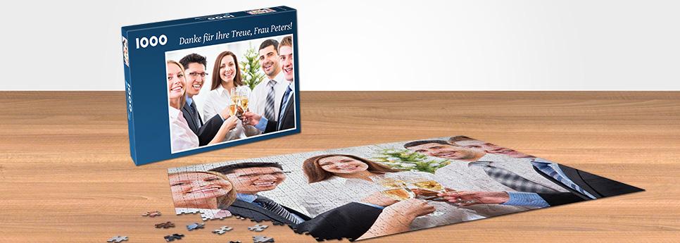 Puzzle als Dankeschön für treue Kunden