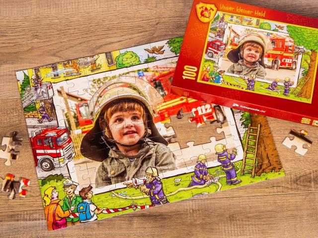 Feuerwehr Puzzle für Kinder