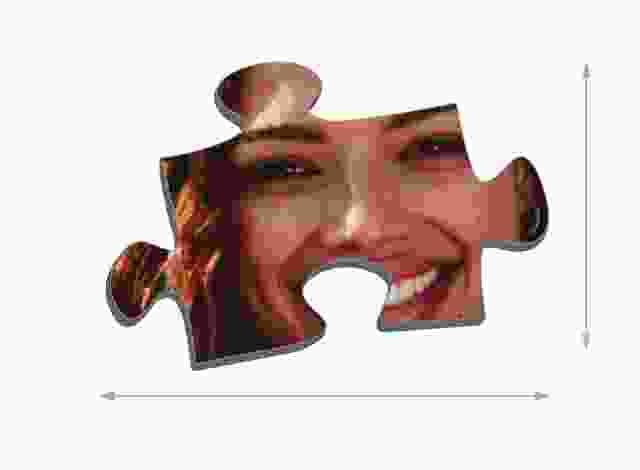 Fotopuzzle mit 200 Teilen Größe der Puzzleteile