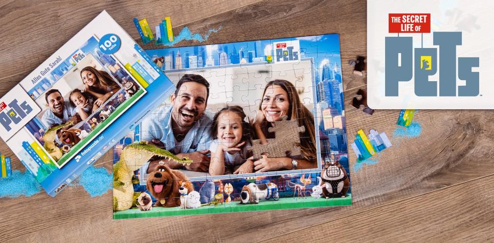 Pets-Puzzle mit eigenen Fotos