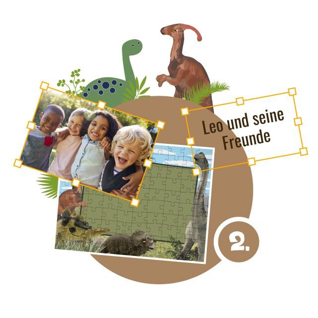 Dinosaurier-Kinderpuzzle gestalten - Schritt 2