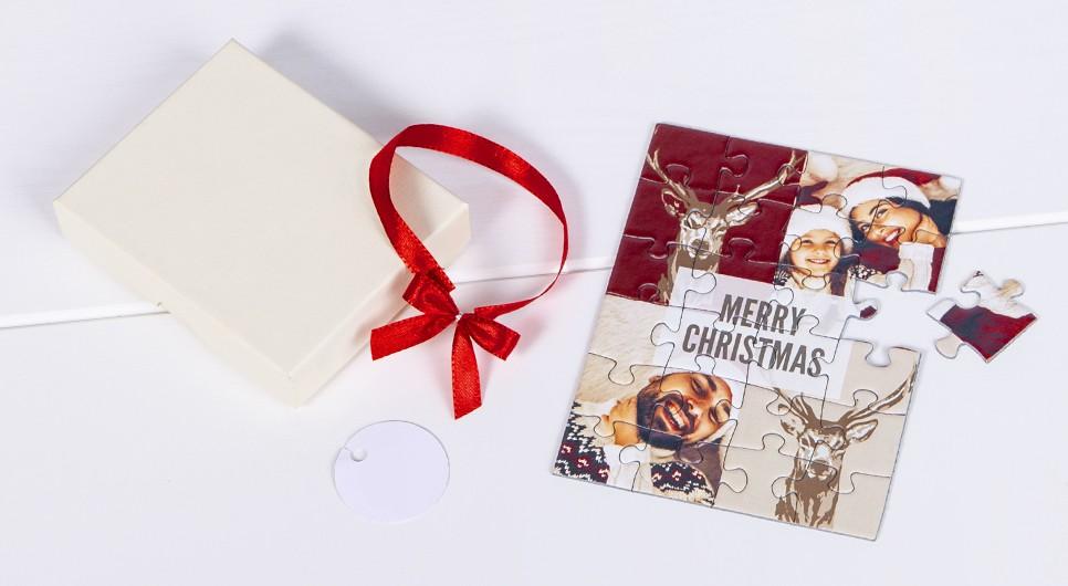 Weihnachtskarten als Puzzle - Musterset anfordern