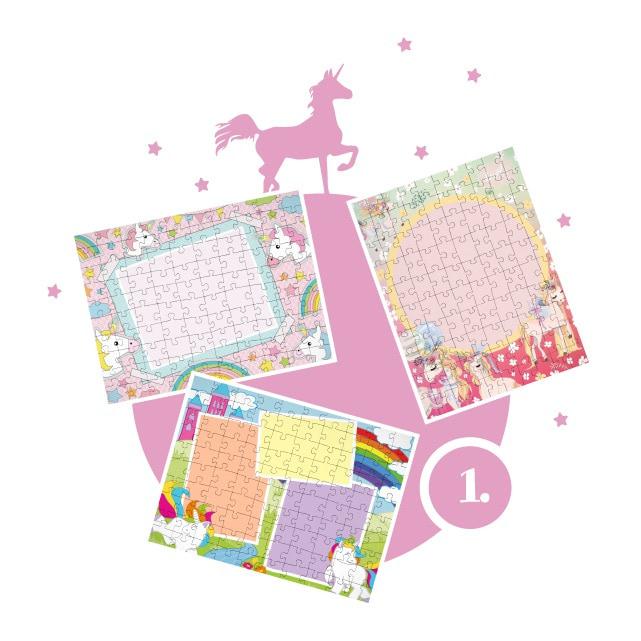 Einhorn-Kinderpuzzle gestalten - Schritt 1