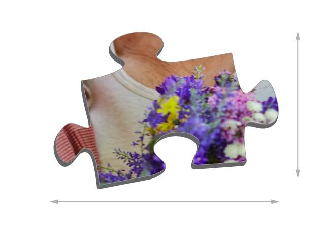 Fotopuzzle mit 500 Teilen Größe der Puzzleteile