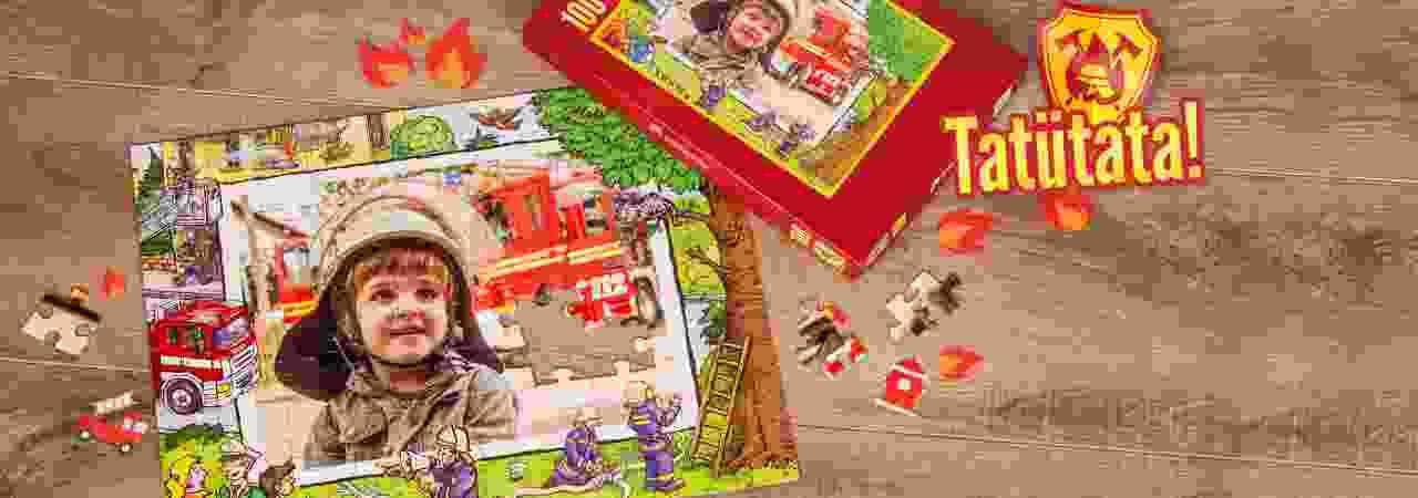 Feuerwehr Kinderpuzzle mit eigenen Fotos