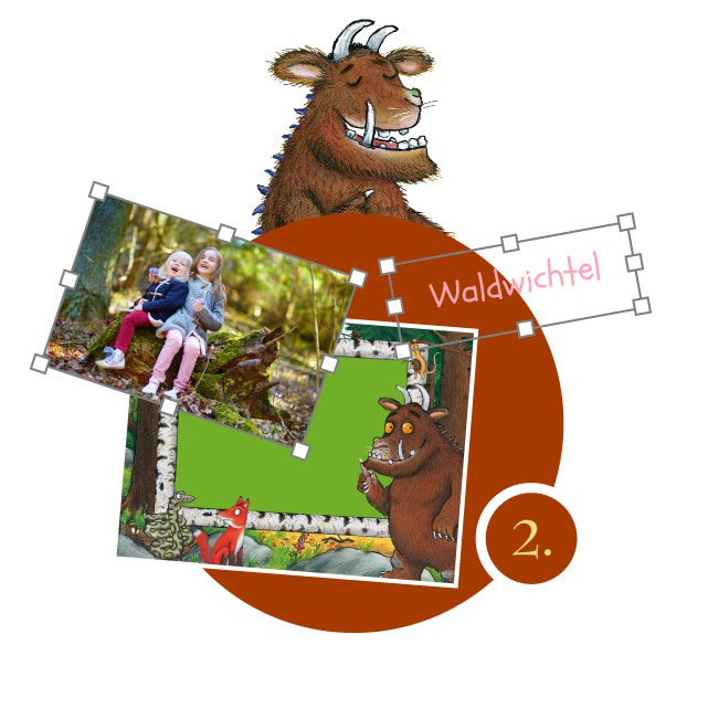 Grüffelo-Kinderpuzzle gestalten - Schritt 2