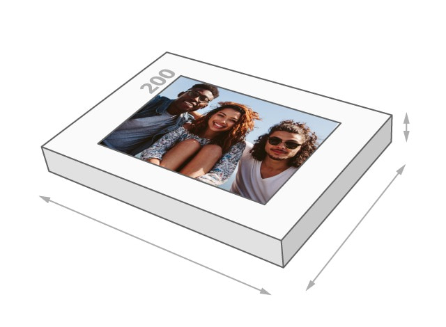 Fotopuzzle mit 200 Teilen Schachtelgröße