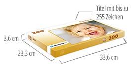 Größe der Puzzle-Schachtel – Fotopuzzle 200 Teile