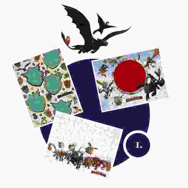 Dragons Kinderpuzzle gestalten - Schritt 1