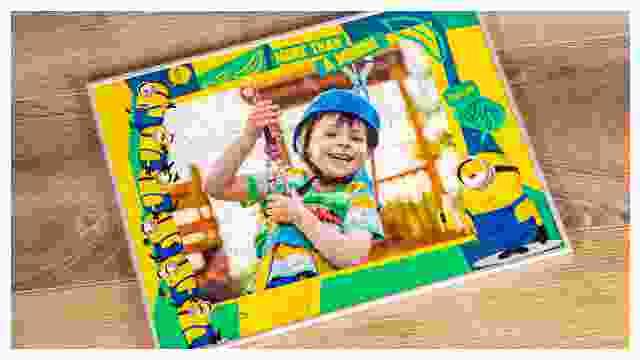 Passender Rahmen für Minions-Kinderpuzzle