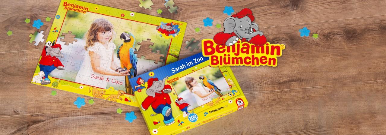 Benjamin-Blümchen-Kinderpuzzle mit eigenen Fotos