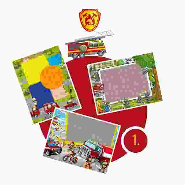 Feuerwehr-Kinderpuzzle gestalten - Schritt 1
