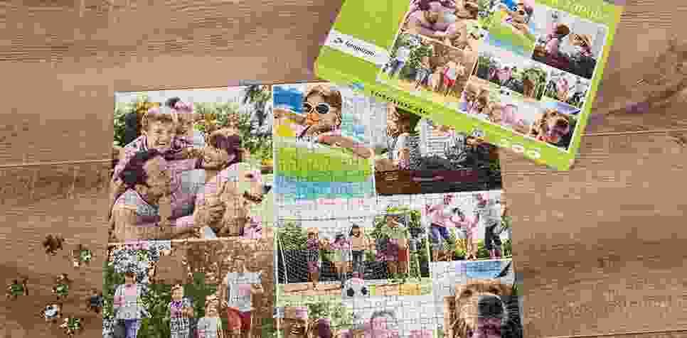 Teaser Fotopuzzle-Collage mit einfachem Raster