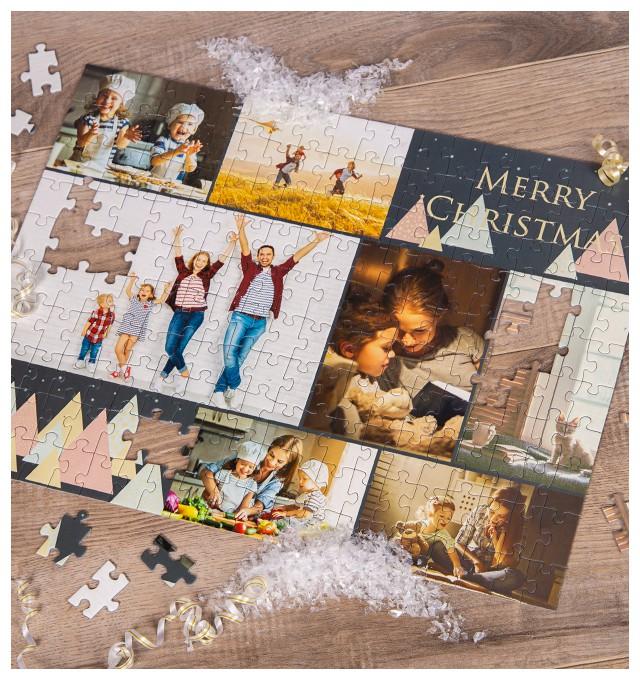 persönliches Weihnachtsgeschenk: Fotopuzzle-Collage