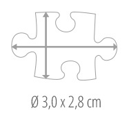 Größe Puzzleteil – Fotopuzzle 200 Teile