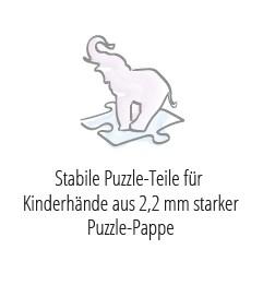 Stabile Puzzle-Teile, ideal für Kinderhände