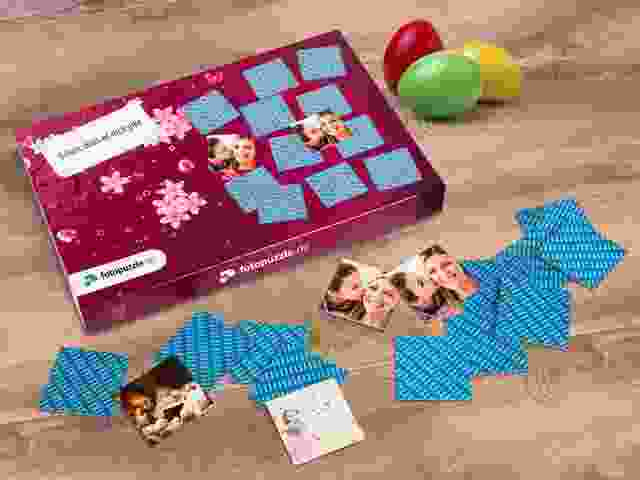Memo-Spiel gestalten als Geschenk zu Ostern