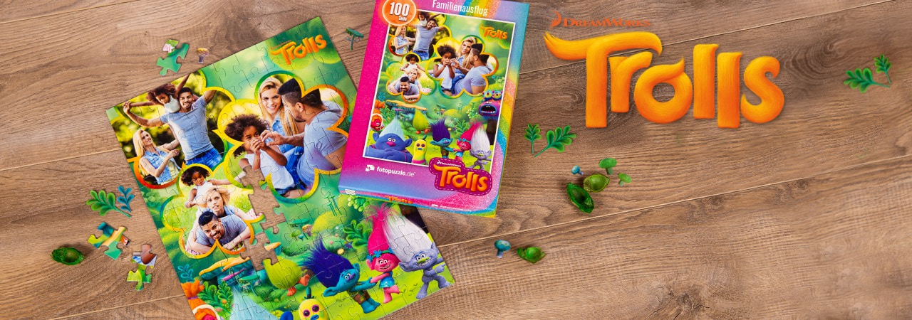 Trolls-Kinderpuzzle mit eigenen Fotos