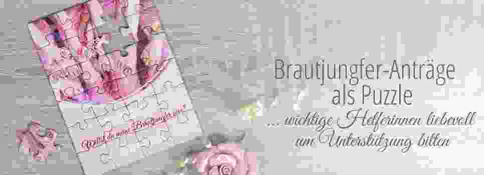 Antrag-Brautjungfer als Puzzle