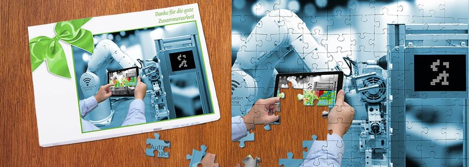 Werbepuzzle als Geschenk für Geschäftspartner