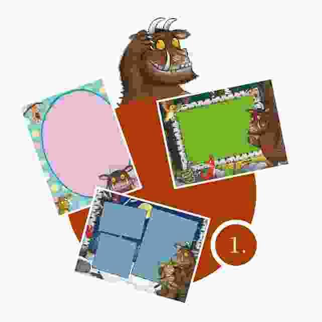 Grüffelo-Kinderpuzzle gestalten - Schritt 1