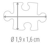 Größe Puzzleteil – Fotopuzzle 600 Teile