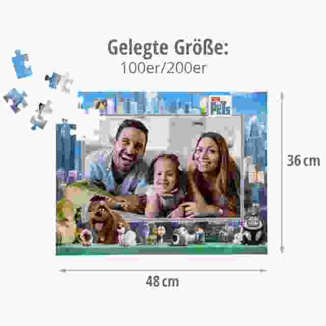 Gelegte Größe der Kinderpuzzles