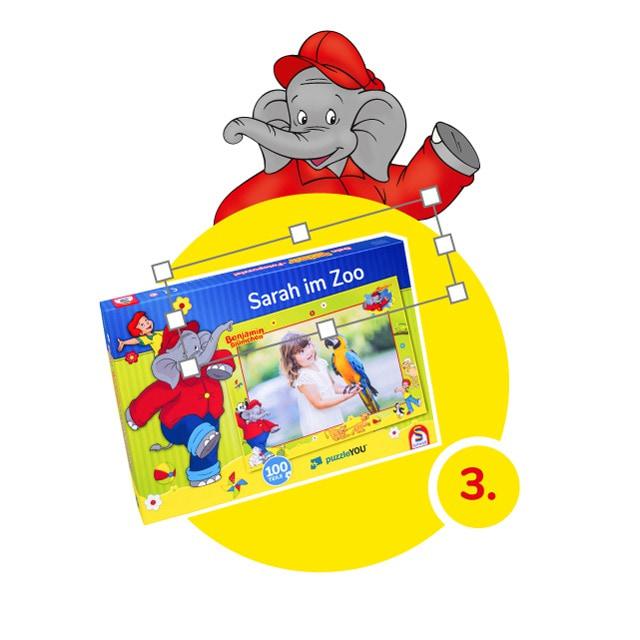 Benjamin-Blümchen-Kinderpuzzle gestalten - Schritt 3