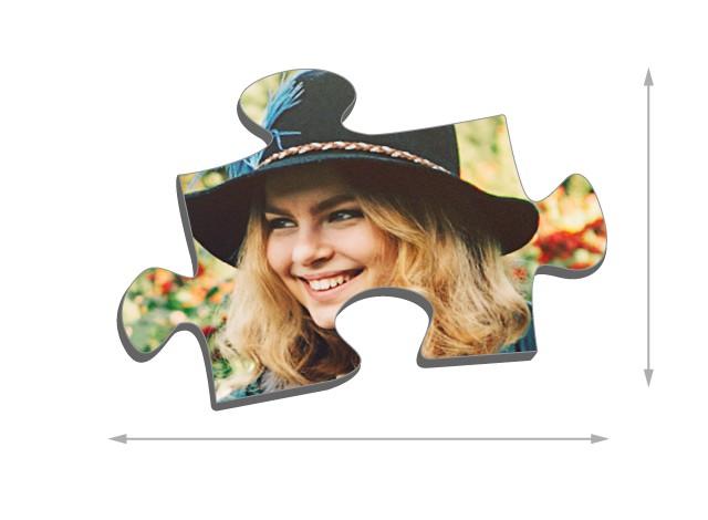 Fotopuzzle mit 100 Teilen Größe der Puzzleteile