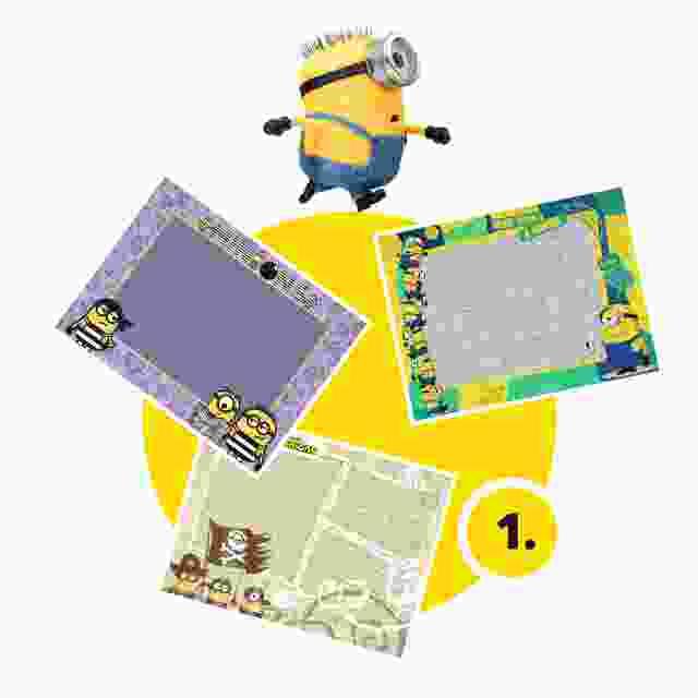 Minions-Kinderpuzzle gestalten - Schritt 1