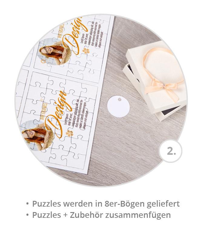 Puzzles mit eigenem Design im 8er Bogen