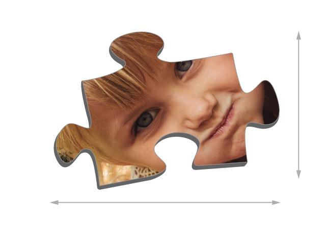 Fotopuzzle mit 1000 Teilen Größe der Puzzleteile