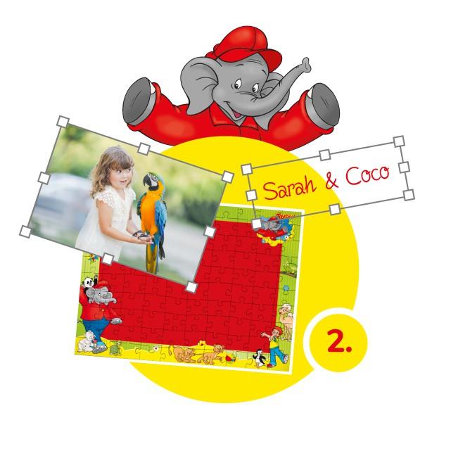 Benjamin-Blümchen-Kinderpuzzle gestalten - Schritt 2