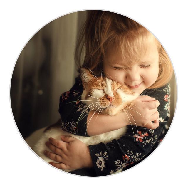 Muttertag Fotos Kind und Haustier