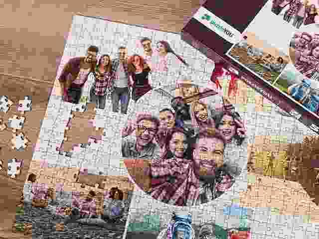 Fotocollage als Puzzle
