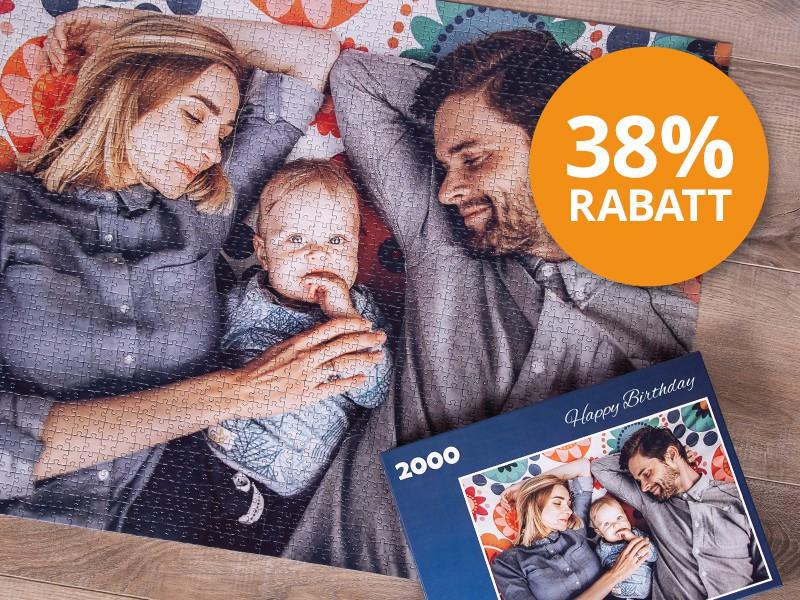 2000 Teile Fotopuzzle - Rabatt sichern
