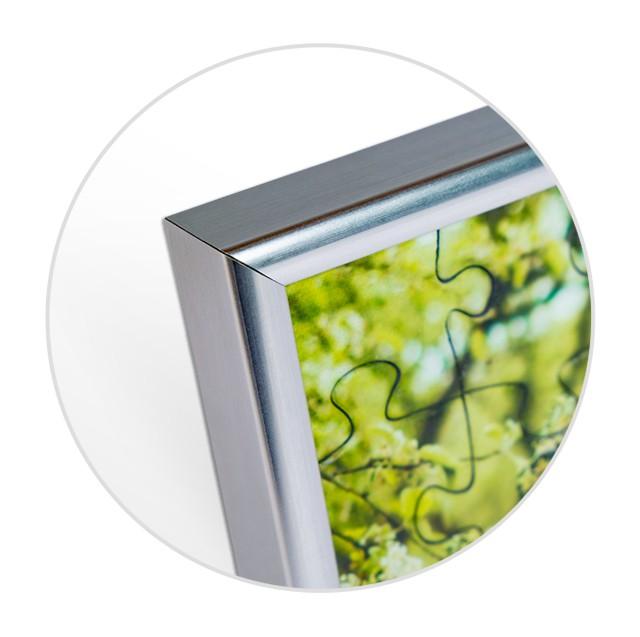 Puzzle-Rahmen für Fotopuzzle mit 24 Teilen; Detailansicht Ecke