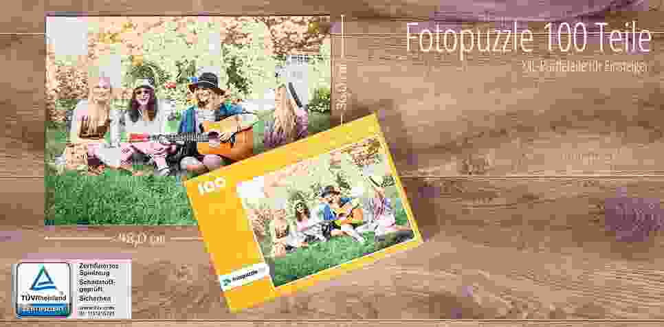 100 Teile Fotopuzzle