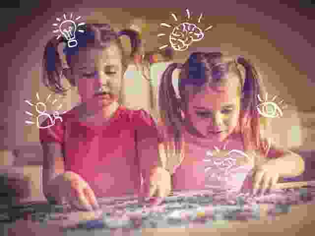 Was lernen Kinder beim Puzzeln?