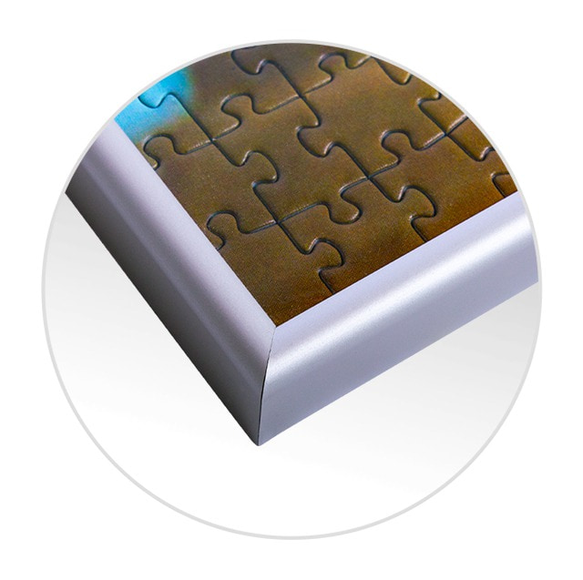 Puzzle-Rahmen fürs Fotopuzzle Detailansicht
