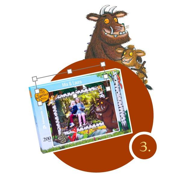 Grüffelo-Kinderpuzzle gestalten - Schritt 3