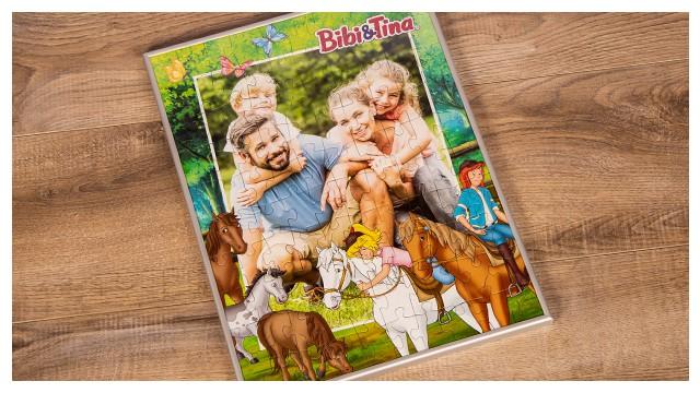 Passender Rahmen für Bibi&Tina-Kinderpuzzles